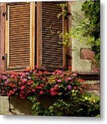 Riquewihr Window Metal Print
