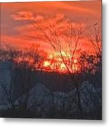 Risin' O'er The Farm Metal Print