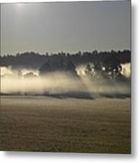 Rising Field Of Fog Metal Print