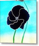 Rising Poppies Metal Print