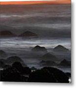 Rising Tide At Fitzgerald Marine Preserve On The California Coast Metal Print