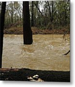 Rising Waters With Timber Metal Print