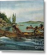 Rival Fur Traders  Metal Print