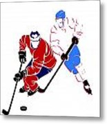 Rivalries Canadiens And Nordiques Metal Print