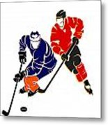 Rivalries Oilers And Flames Metal Print