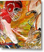 Rivals Face To Face 1 Metal Print by Mark Moore