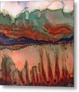River Aflame Metal Print