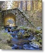 River And Bridge Metal Print