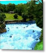 River And Waterfall In France Metal Print