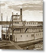 River Boat Yukon Stern Wheel Alaska 1915 Metal Print