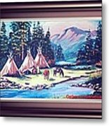 River Camp Metal Print