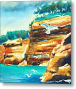 River Cliffs 2 Metal Print