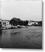 River Derwent On A Rainy Overcast Day Cockermouth Cumbria England Metal Print by Joe Fox