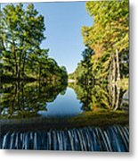River Falls In The Fall On The Guadalupe River Metal Print