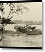 River Fishing Boats In Hoi An Metal Print