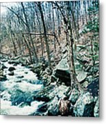 River Flowing Through A Valley, Hudson Metal Print