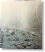 River Fog Metal Print
