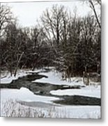 River Freeze Metal Print