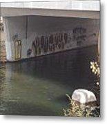 River Graffiti Metal Print