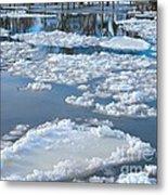 River Ice Metal Print
