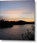 River In The Eveninglight - Sanibel Island Metal Print