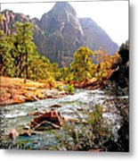 River In Zion National Park Metal Print