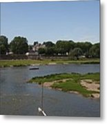 River Loire Fishing Boat Metal Print