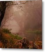 River Mist On A Mystical Morning Metal Print