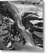 1m3646-bw-river Of Ice On Snowbird Glacier Metal Print