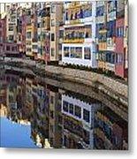 River Onyar Girona Spain Metal Print