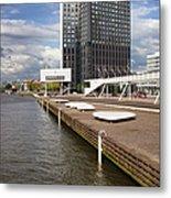 River Promenade In Rotterdam Metal Print
