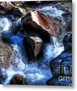 River  Rock Metal Print