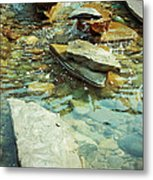 River Rock Path Metal Print