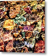 River Rock Rainbow Metal Print