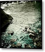 River Rocked Metal Print by Susan Maxwell Schmidt