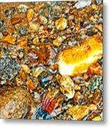 River Rocks 10 Metal Print