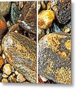 River Rocks 16 In Stereo Metal Print