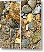 River Rocks 17 In Stereo Metal Print