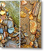 River Rocks 9 In Stereo Metal Print