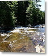 River Running Over Rocks Metal Print