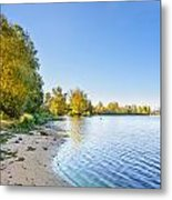 River Shore And Trees Metal Print