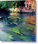 River Sile In Treviso Italy Metal Print