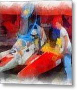 River Speed Boat Number 2 Photo Art Metal Print