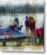 River Speed Boat Photo Art Metal Print