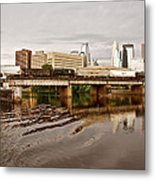 River Structures13 Metal Print by Susan Crossman Buscho