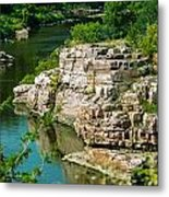 River Through The Rocks Metal Print