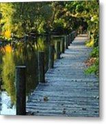 River Walk In Traverse City Michigan Metal Print by Terri Gostola