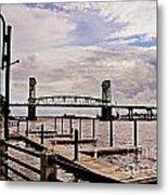River Walk Wilmington Bridge Metal Print