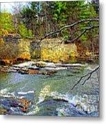 River Wall Metal Print