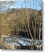 River Waterfall Metal Print